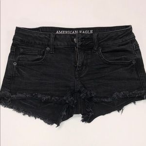 "American Eagle ""super low shortie"" shorts size 4"